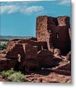 Wukoki Pueblo Ruins Wupatki National Monument Metal Print