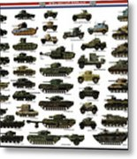 Ww2 British Tanks Metal Print by The Collectioner