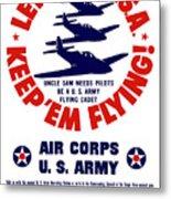 Us Army Air Corps - Ww2 Metal Print