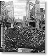 Wwi, Ruins Of Arras Cathedral Metal Print