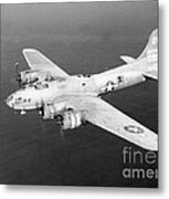 Wwii, Boeing B-17 Flying Fortress, 1940s Metal Print