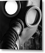Wwii Gas Mask Metal Print
