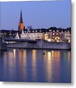 Wyck In Maastricht In The Evening Metal Print