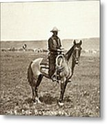 Wyoming: Cowboy, C1883 Metal Print