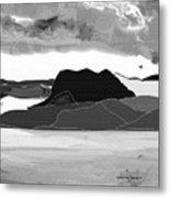 Wyoming Landscape 3 - B-w Metal Print
