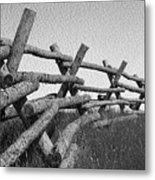 Wyoming Snow Fence Metal Print