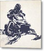 X Games Snowmobile Racing 2 Metal Print