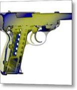 X-ray Art Of Walther P38 No.5 Metal Print