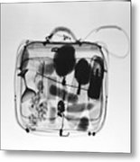 X-ray Of Suitcase Metal Print by Science Source