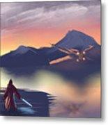 X-wing On The Horizon Metal Print
