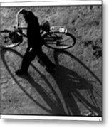 Xian Bike Lines Metal Print