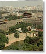 Xi'an City Wall With Skyline Metal Print