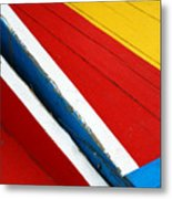 Xochimilco Boat Abstract 1 Metal Print