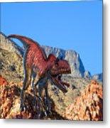 Xuanhanosarus In The Desert Metal Print by Frank Wilson