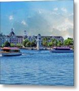 Yacht And Beach Club Walt Disney World Metal Print