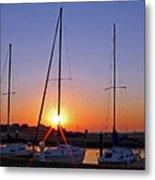 Yacht Club Sunrise Metal Print