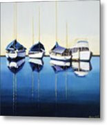 Yacht Harbor Metal Print by Han Choi - Printscapes