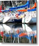 Yachts At Rest Metal Print