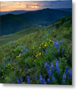 Yakima River Canyon Sunset Metal Print