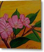 Yamazakura Or Cherry Blossom Metal Print