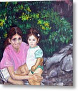 Yamileth And Daughter Metal Print