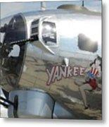 Yankee Lady Nose Art Metal Print