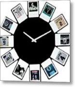 yankees Clock Metal Print