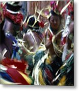 Yap Dancers In Micronesia Metal Print