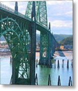 Yaquina Bay Bridge Br-9002 Metal Print
