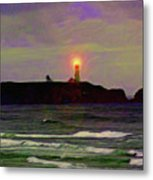 Yaquina Head Lighthouse Metal Print
