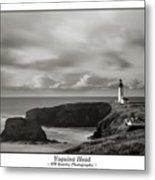 Yaquina Head Lighthouse - With Border Metal Print