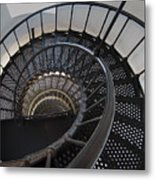 Yaquina Lighthouse Stairway Nautilus - Oregon State Coast Metal Print by Daniel Hagerman