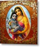 Yashoda And  Krishna 3 Metal Print by Lila Shravani