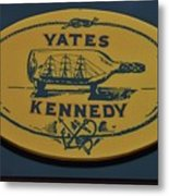 Yates Kennedy Sign Provincetown Metal Print