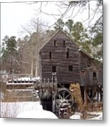 Yates Mill In Winter Metal Print by Kevin Croitz