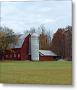 Ye Old Red Barn Metal Print