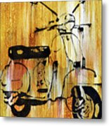 Yeah It's A Vespa Metal Print