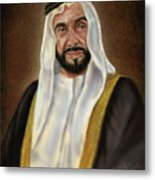 Year Of Zayed Portrait Release 2018 Metal Print