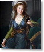Yekhaterina Vasilievna Engelhardt, Countess Skavronskaya, Later Countess Litta E. Vigee-lebrun Metal Print