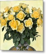 Yello Roses Metal Print