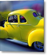 Yellow 1940 Hudson Metal Print