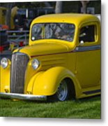 Yellow 30's Chevy Pickup Metal Print