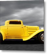Yellow 32 Ford Deuce Coupe Metal Print