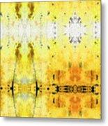 Yellow Abstract Art - Good Vibrations - By Sharon Cummings Metal Print