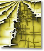 Yellow And Black 3 Metal Print