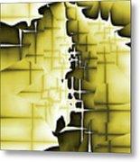 Yellow And Black 4 Metal Print