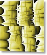 Yellow And Black 6 Metal Print