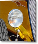 Yellow And Blue Hot Rod Headlight Metal Print