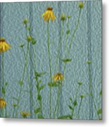 Yellow And Blue Metal Print