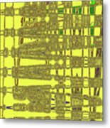 Yellow And Brown Lines Metal Print